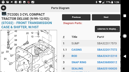 Equipment Parts Diagrams by Messick's