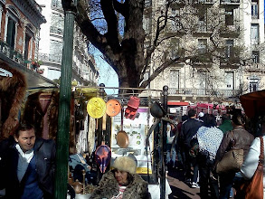 Photo: サンテルモの日曜市 ものすごい人出。