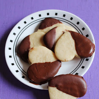 Chocolate Covered Shortbread Cookies | Eggless Vanilla Cookies