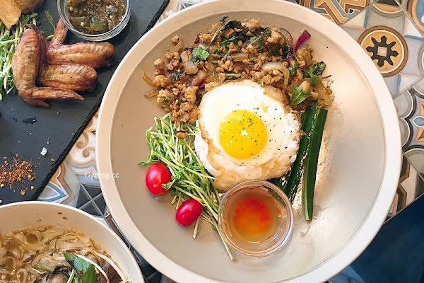 Saladaeng Café ศาลาแดง┃台中西區美食:網美超愛的泰式餐廳,一片花牆適合拍照打卡,但是餐點不合個人口味