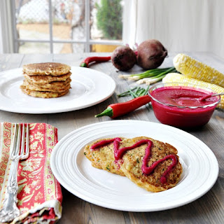 Vegan Savory Zucchini & Corn Pancakes