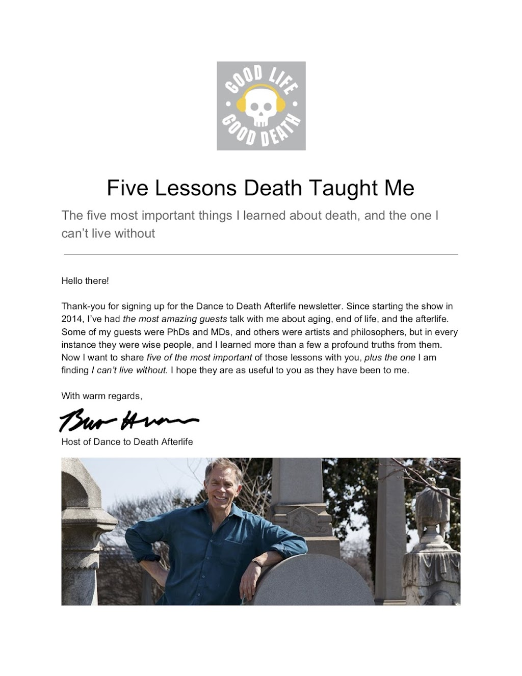 Lessons from Death