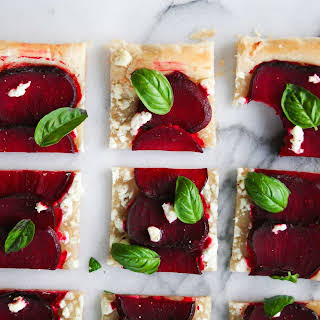 Beet and Goat Cheese Tart (5 ingredients!).
