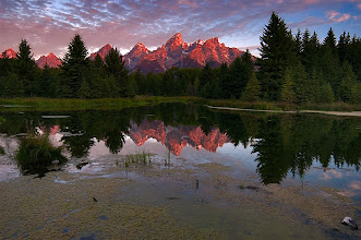 Photo: This is probably the most photographed reflection scene in North America. I have only photographed Schwabacher Landing once but look how lucky I was! This sunrise was pure magic.  #PlusPhotoExtract #photography #potd #FineArtPls