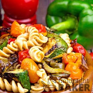 Roasted Pepper Whole Wheat Pasta Salad.