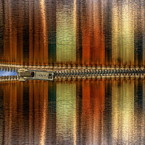 Unzip the sky by Katherine Rynor - Digital Art Things ( abstract, colour, zip, sky, reflections, surreal )