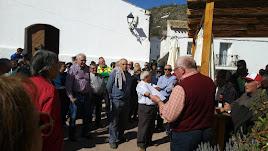 Concentración celebrada ayer en Alcóntar.