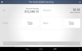Screenshot of The Bank Mobile Banking