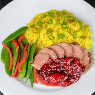 Pan-Seared Duck Breasts with Fresh Plum Sauce