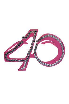 Glasögon 40, rosa