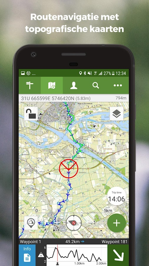 ViewRanger Kaarten en Routes: screenshot