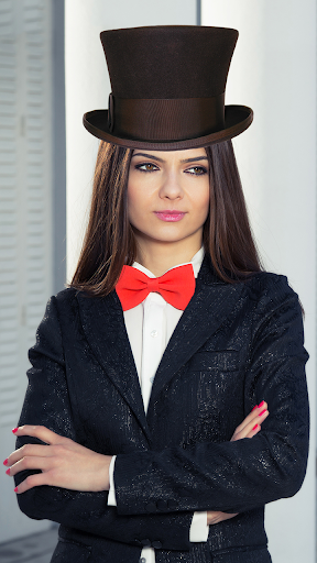 帽子フォトモンタージュ