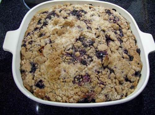 "Worlds best Blueberry Buckle Coffee Cake ""I had some blueberries that I..."