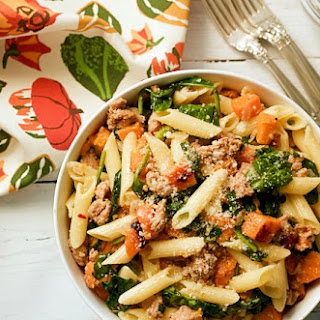 Sausage, Squash And Spinach Gluten Free Pasta