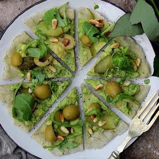 Avocado Pizza [Vegan, Gluten-Free]
