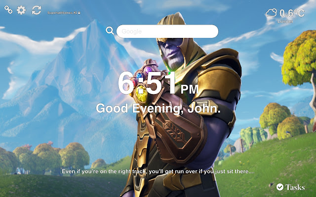 Thanos Fortnite Wallpapers and New Tab