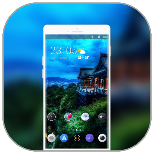 Theme for Samsung Galaxy A8 J6 building mountain icon