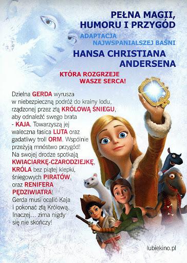 Tył ulotki filmu 'Królowa Śniegu'