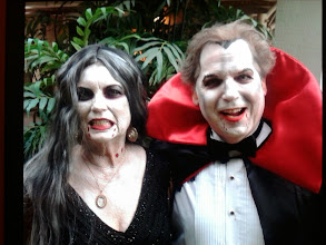 Photo: Bella the Clown did not dress up for this event. She was simply hired to paint this couple for a Halloween party and they won first prize! Call to book bella today at 888-750-7024