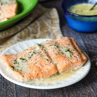 Creamy Lemon Dill Salmon (low carb).