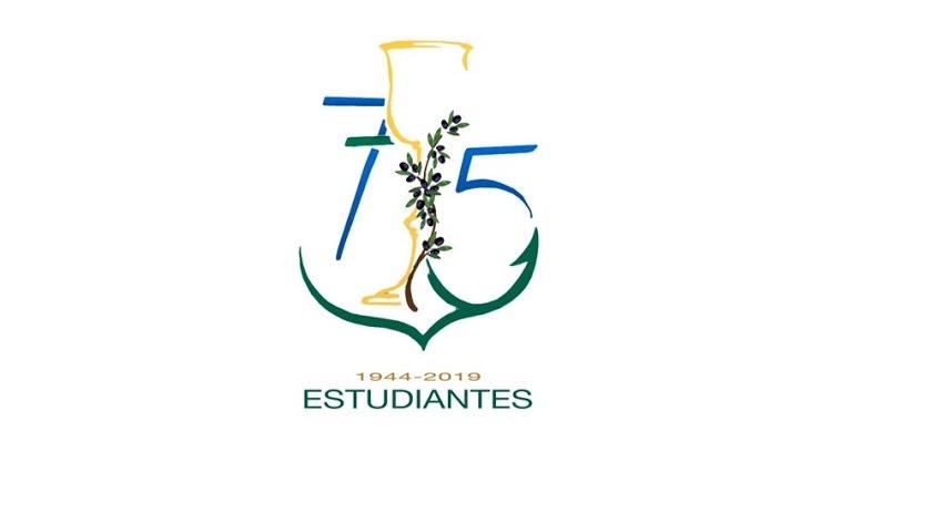 Logo del 75 aniversario de Estudiantes, obra de Javier Barranco.