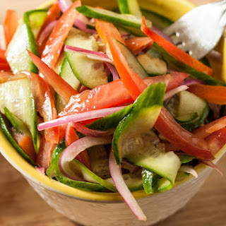 Smoky Cucumber, Tomato, and Onion Salad