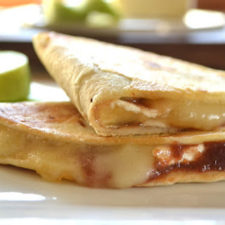 Brie Cheese & Fruit Butter Quesadillas | Dessert Quesadillas