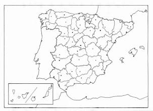 Photo: Mapa mudo provincias G
