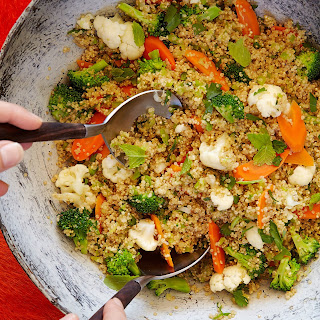 Marcus Samuelsson's Quinoa with Broccoli, Cauliflower and Toasted Coconut