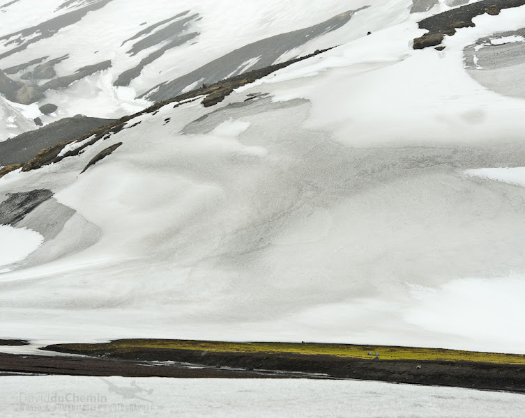 Photo: Deception Island. An old whaling station, geo-thermal sands. Loved the bands of color here. Moments later I took off my clothes and took a polar plunge. Not one of my warmer experiences