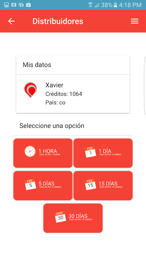 Tiwii Wifi: captura de pantalla