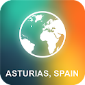 Asturias, Spain Offline Map icon