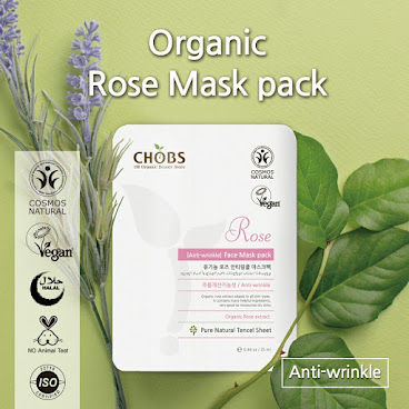 (CHOBS) Organic Tencel Mask - Rose 有機天絲面膜 - 玫瑰