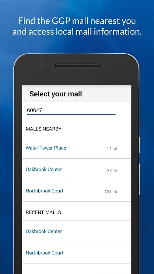 GGP Malls- screenshot