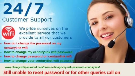 How do i change my wifi password on centurylink - CHANGE WI