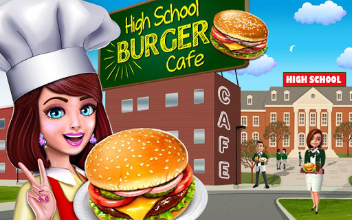High School Cafu00e9 Girl: Burger Serving Cooking Game 1.1 screenshots 6