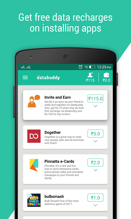 Databuddy: Free Data & Paytm cash- screenshot