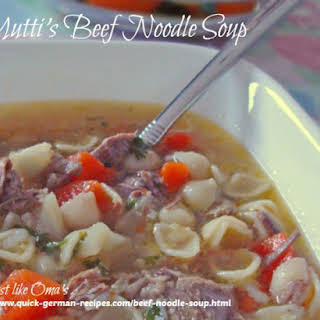 Mutti's Beef Noodle Soup.