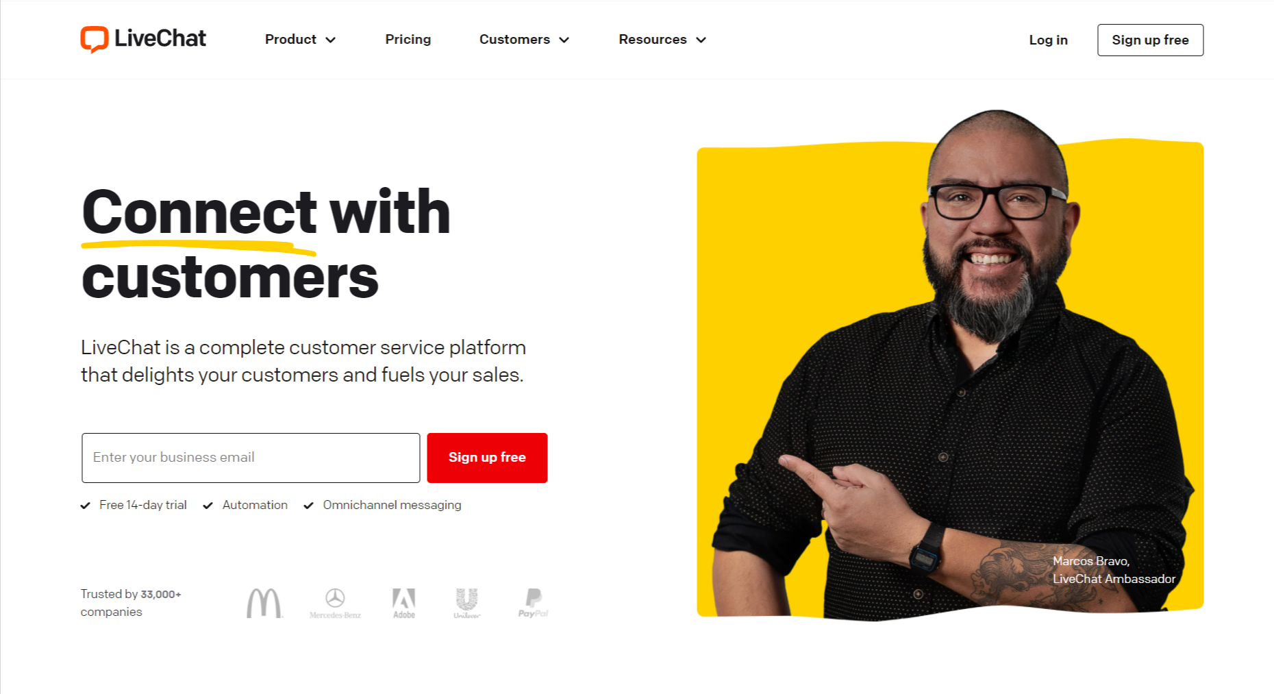livechat- connect with customer