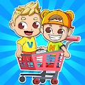 Vlad & Niki Supermarket game for Kids icon