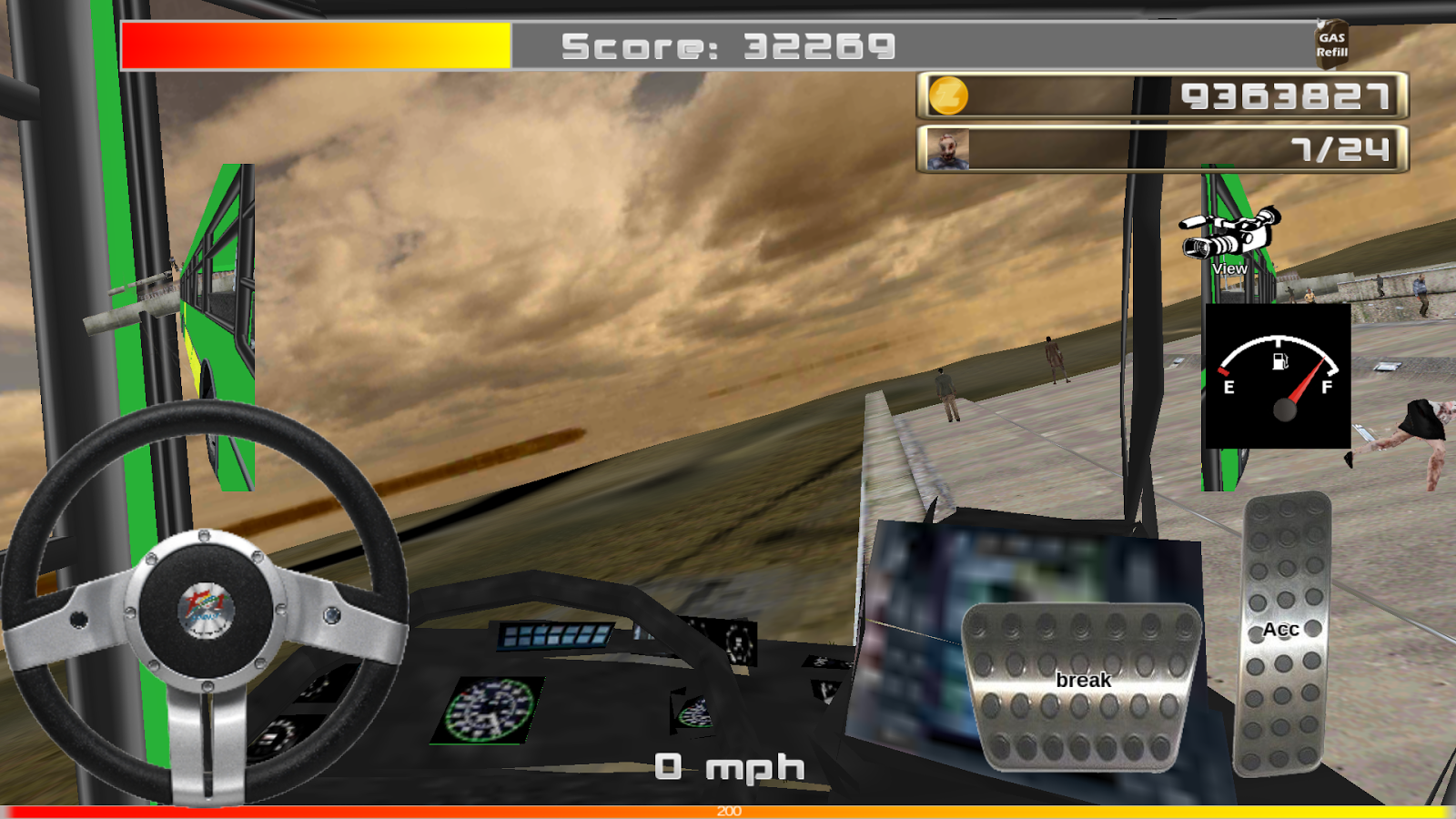 Zombie Crashing Car Games