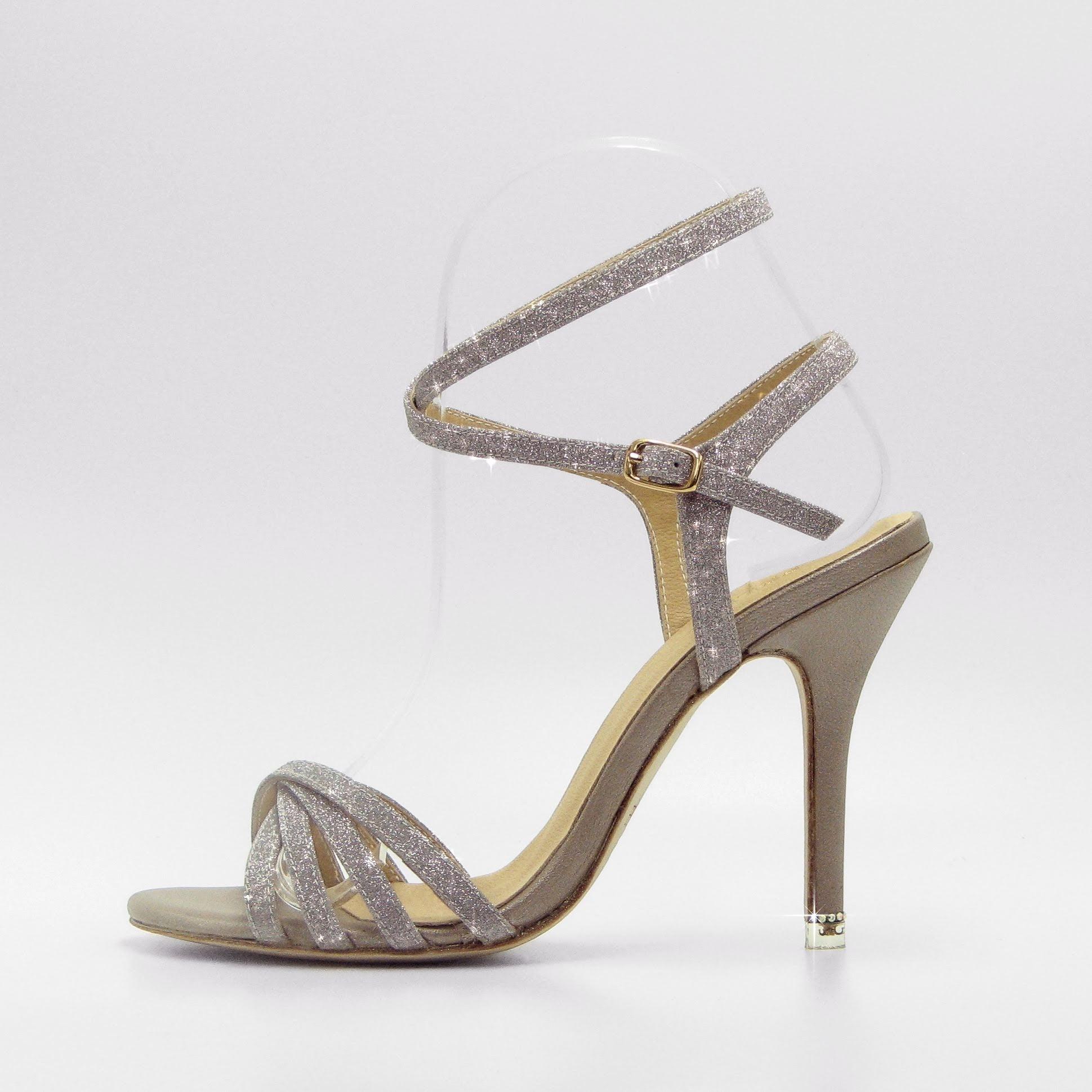 Beige Gliter Tango Sandals