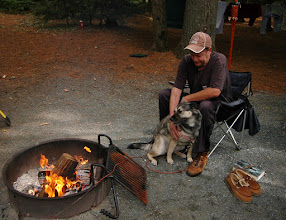Photo: Relaxing by the campfire, Quechee State Park
