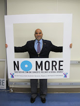 Photo: Attorney General Leonardo Rapadas shows his support to end the violence!