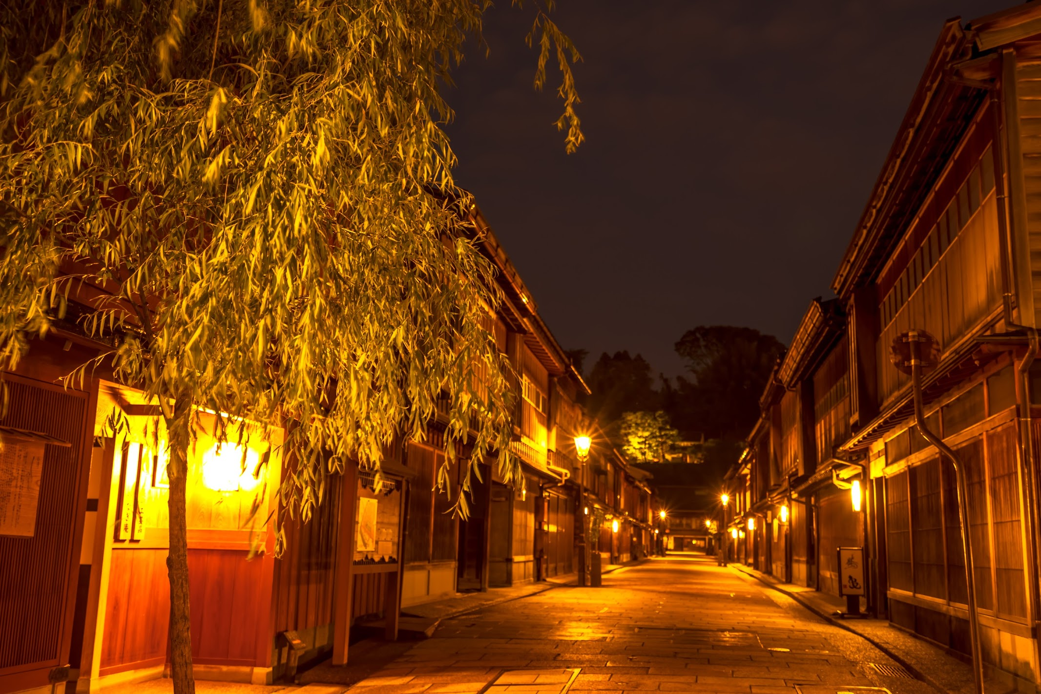 Kanazawa Higashi Chaya District Light-up4