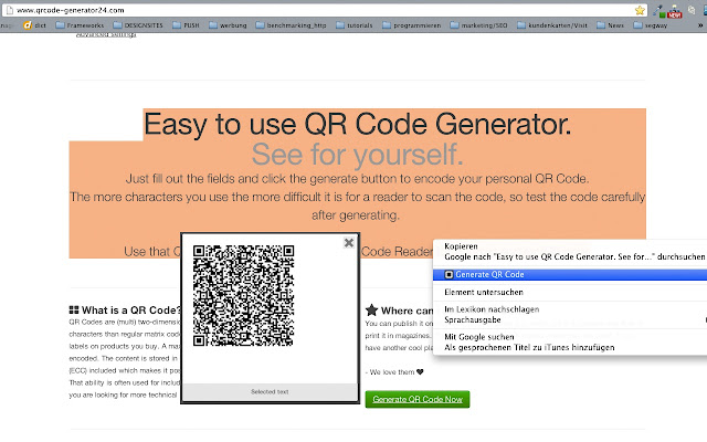 QR Code Generator for Whatsapp and SMS