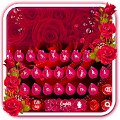 Beautiful Red Rose petals Keyboard