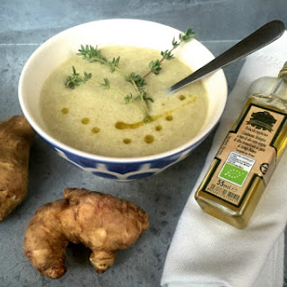 Jerusalem Artichoke Soup With Truffle Oil [Vegan, Gluten-Free]