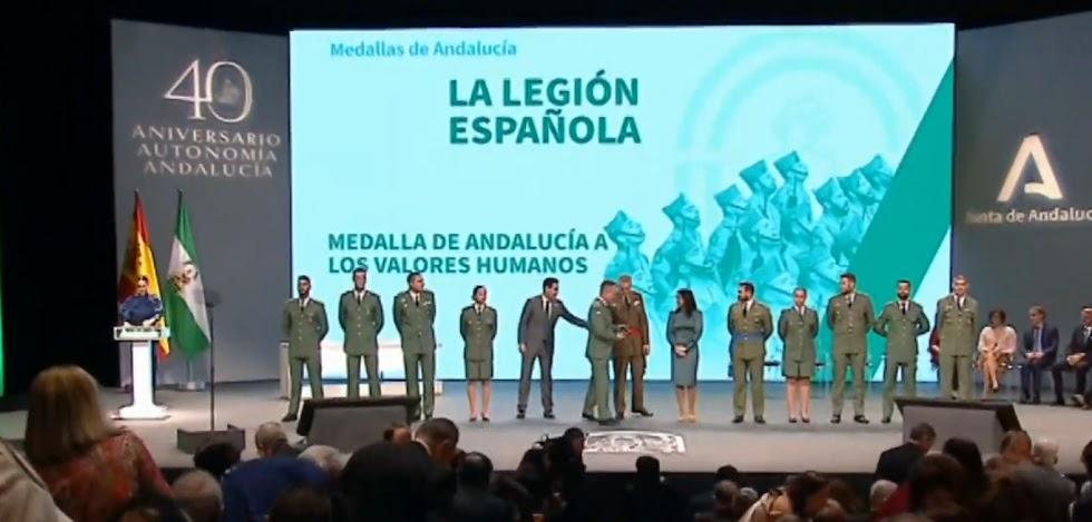 Entrega de la Medalla de Andalucía a la Legión Española.