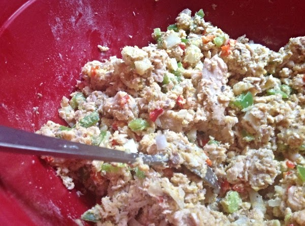 Chop bell peppers, mini peppers, & onions and add to bowl along with 1...
